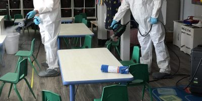 Disinfecting school with Steramist