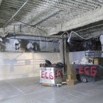 ECG Abatement crew working on removing Fireproofing material